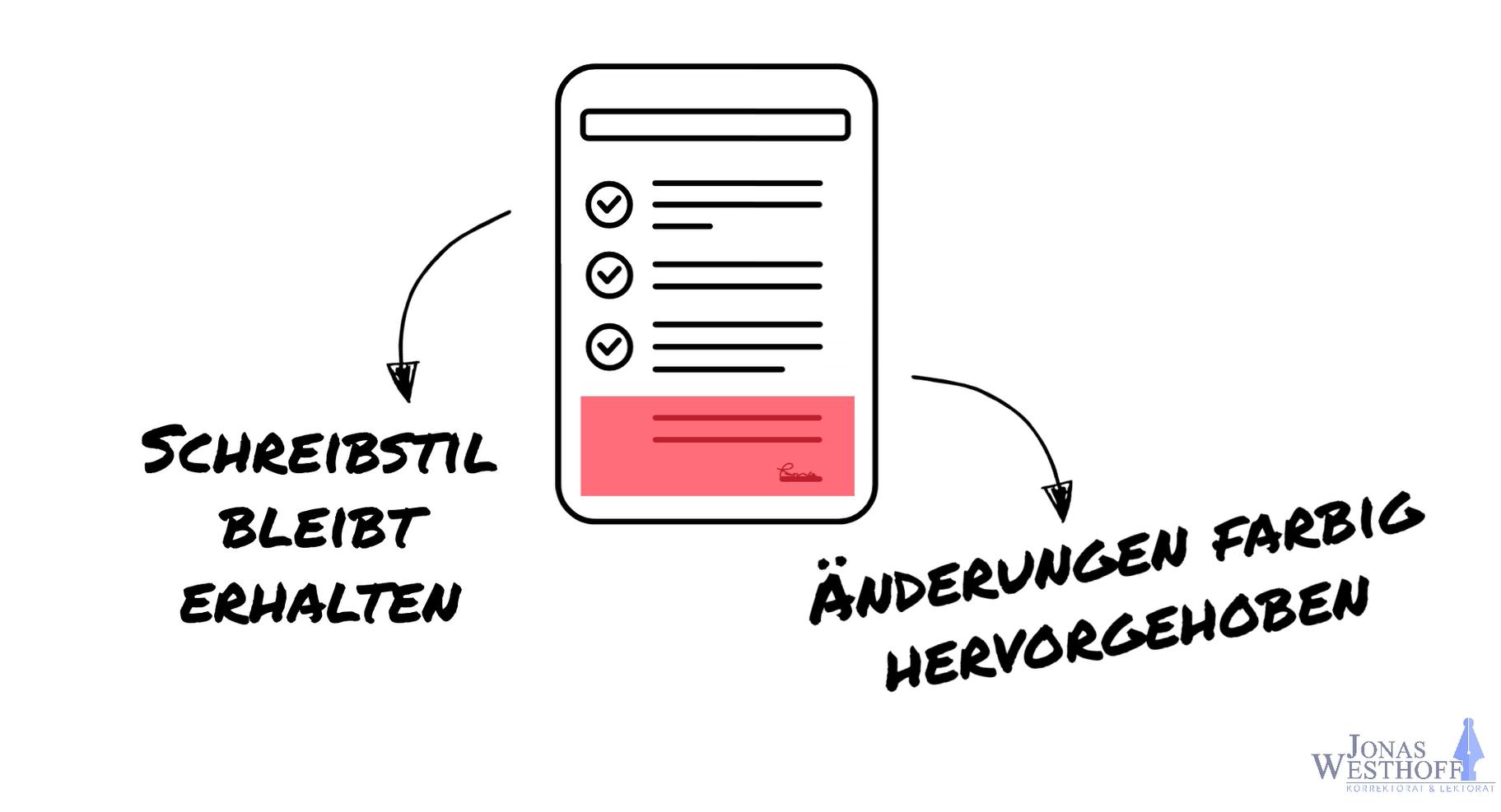 Korrektorat und Lektorat Jonas Westhoff - Schreibstil