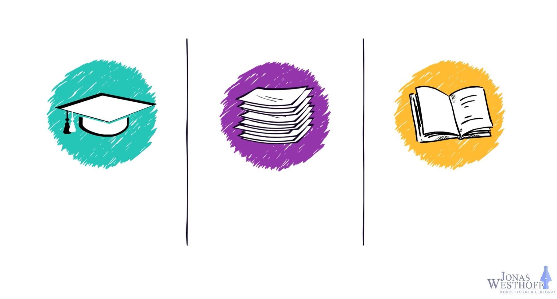 Korrektorat und Lektorat für Bachelorarbeit, Masterarbeit, Buch und Roman